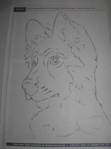 vics outline pastel dog
